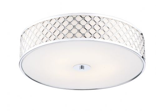 Dar Civic 5 Light Flush Large Polished Chrome CIV5050